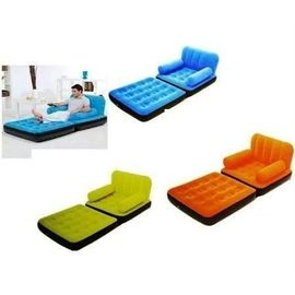 Inflatable Premium quality Velvet Sofa Cum Bed New 2 In 1 2people seating