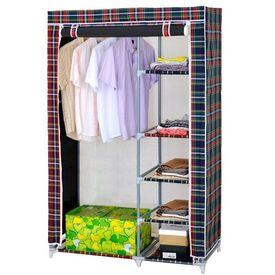 Deluxe Double Canvas Foldable Wardrobe Cupboard