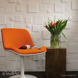 WallArt 3D Wall Panels - Squares ( 1 Box of 32.29 Sft)