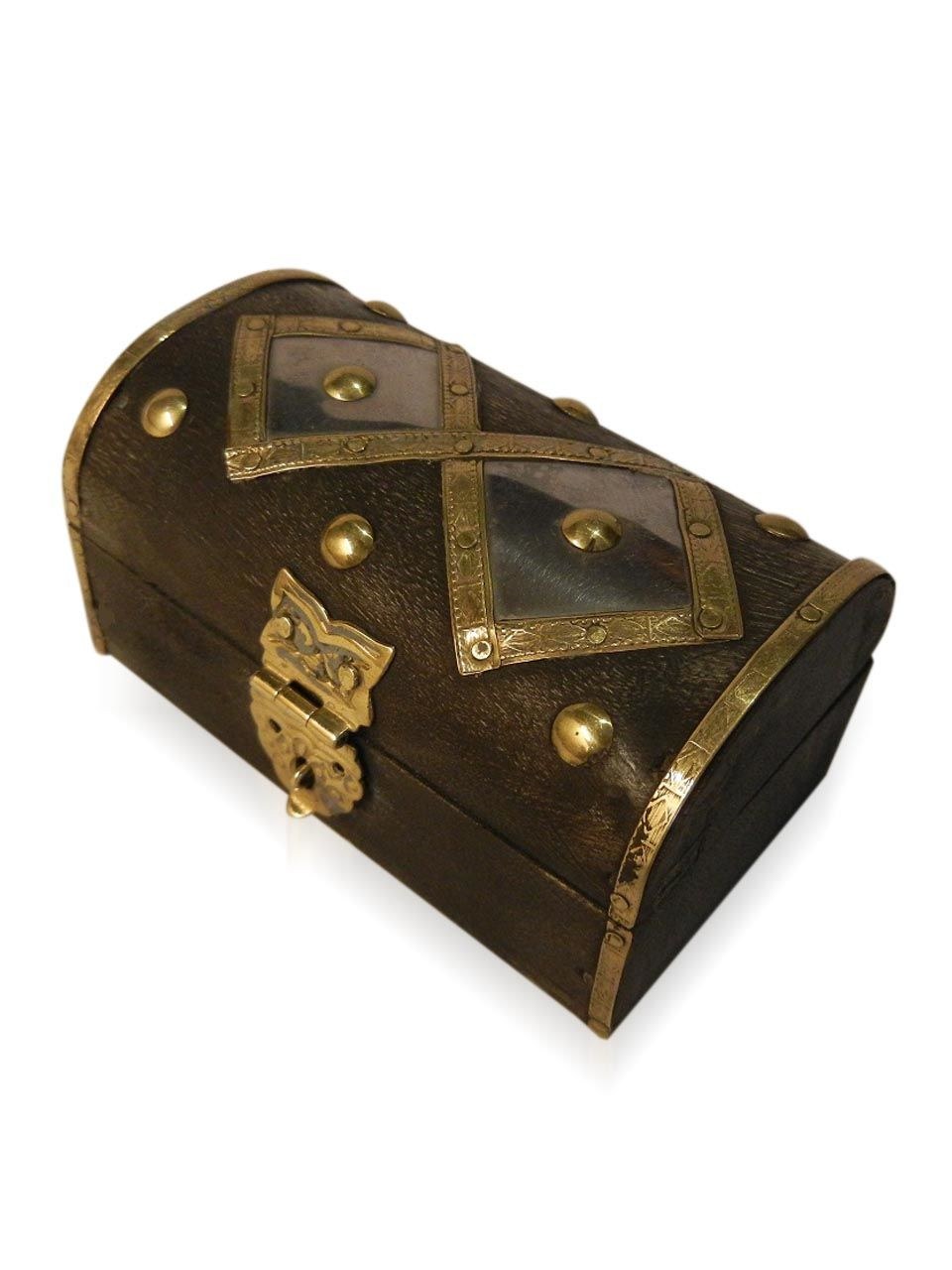 Wooden Antique Brass Work jewellery box - cpwdbojb00022
