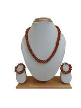 Charvee Gold Tipped Beaded Set (Maroon)