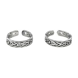 Attractive Sterling Silver Casted Toe Ring-TR295