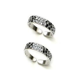 Lustrous Sterling Silver Casted Toe Ring-TR240