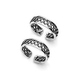 Classy Cutwork Silver Toe Ring-TR86