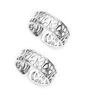 Pretty Cut Work Silver Toe Ring-TR270