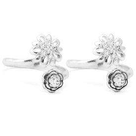 Amazing Upper Openable Silver Toe Ring-TR297