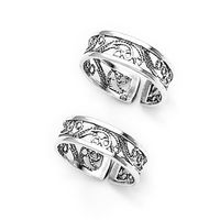 Lovely Cutwork Sterling Silver Toe Ring-TR228