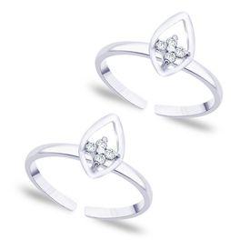 Top Leaf Silver Toe Ring-TR255