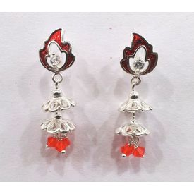 Jhumki Silver Earrings-ER009