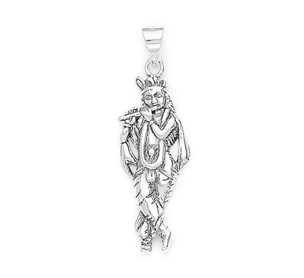 Lord krishna silver pendant silver pendants online lord krishna silver pendant pd017 mozeypictures Images