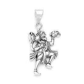 Lord Hanuman Divine Silver Pendant-PD002