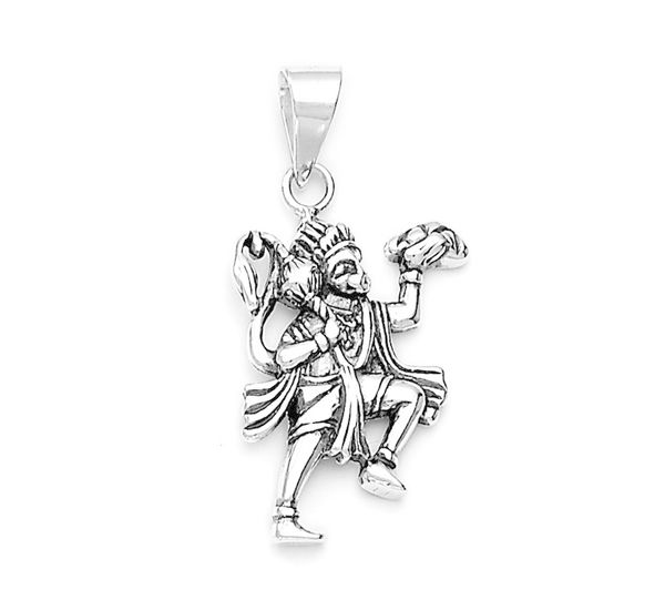 Lord hanuman divine silver pendant silver pendants online lord hanuman divine silver pendant pd002 aloadofball Image collections