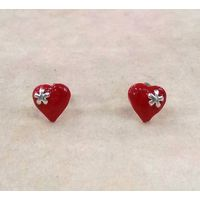 Ravishing Heart Shape Enamel Tops-ER046