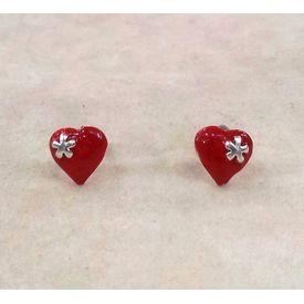 Ravishing Heart Shape Enamel Tops-ER046