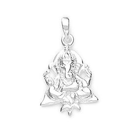 Lord Ganesh Divine Silver Pendant-PD086