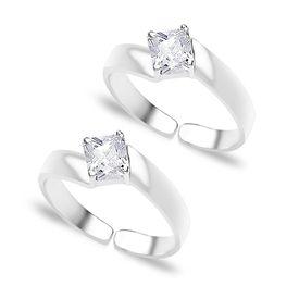 Brilliant White Zircon Toe Rings-TR180