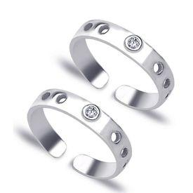 Go On Zircon Silver Toe Ring-TR213
