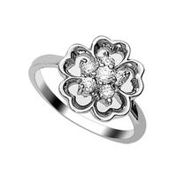 Lovely CZ Silver Finger Ring-FRL046, 14
