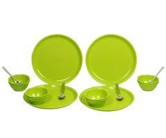 Gluman Dinner Set - Sparkle 16 pcs Round (Green)
