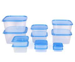 Gluman 12 Pcs Set of Plastic Kitchen Storage Container Box - Splash Blue C7
