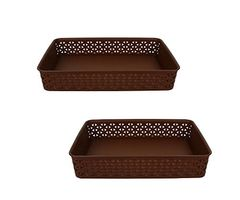 Jaypee Plus File - All A4 Tray - Brown pack of 2