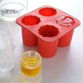 Ice Shot Glass (red) Silicon ice tray glass mould