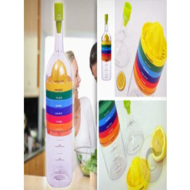 Multi Tool Bottle 8 in 1 Plastic Kitchen bottle (Multicolor)