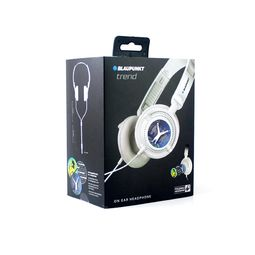 Blaupunkt Trend Foldable On-Ear Universal Wired Headphone,  white