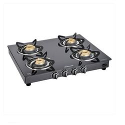 Sunflame Classic 4 Burner BLK Gas Stove,  black