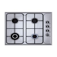 Carysil 60cm Cajun Standard Line Stainless Steel Built-In Hob# Cajun S4, with safety device