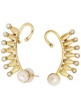 The Jewelbox Designer 18K Gold Plated Ear Cuff Pai...