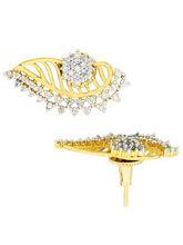 The Jewelbox Flower 18K Gold Plated Ear Cuff Jacke...
