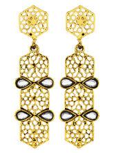 The Jewelbox Italian Kundan 14K Gold Plated Dangli...