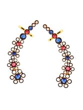 The Jewelbox Floral Delight 18K Gold Plated Blue P...