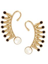 The Jewelbox Spike 18K Gold Plated Black Spinel Pe...
