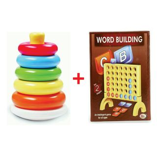 YD Combo Of Stacking Ring And Word Building Game