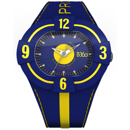 B PROUD-BLUE YELLOW WATCH