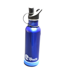 Stainless Steel Water Bottles with your NAME(Blue)