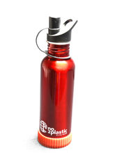 Stainless Steel Water Bottles with your NAME(Red)
