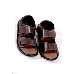 DIS - Diabetic Footwear - Men - Sandals Pure Leather - D22, 7, brown