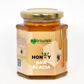 Nutriwish Acacia Honey - 350 grams ( 100% Pure Acacia Honey)