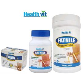 Healthvit Fatnile Fat Burner Combo ( Capsule+ Powder+ Tea)