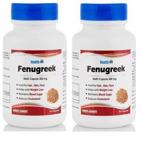 Fenugreek Powder 500mg 60 Capsules (Pack Of 2) - Healthvit