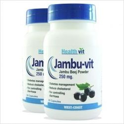 Healthvit JAMBU-VIT Jambo Beej Powder 250 mg 60 Capsules (Pack Of 2)