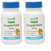 Healthvit FENUVIT Fenugreek Powder 500mg 60 Capsules (Pack Of 2)