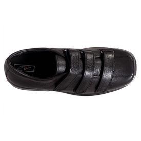 Health Plus Premium Leather Shoes ( Loose Strap) - for Diabetic, 7