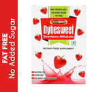 Dybesweet Strawberry FAT FREE Milkshake - 6 Sachet Pack