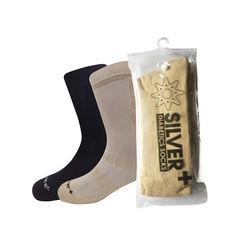 Montac Silver+ Diabetic Socks, combo - beige  1    black  1