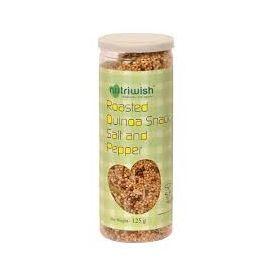 NUTRIWISH Roasted Quinoa Snack, Salt & Pepper, 125 gm