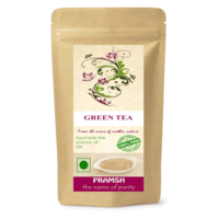 Pramsh Traders Green Tea For Quick Fat/Weight Loss 100gm Unflavoured Green Tea, 100 gm, pouch
